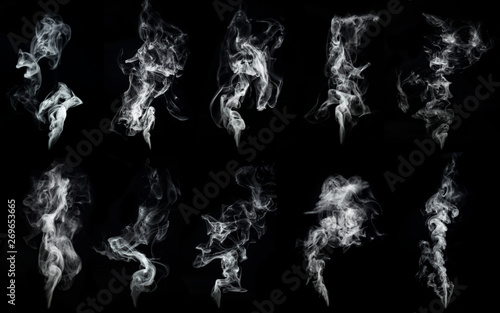 Foto op Plexiglas Rook A large amount of smoke is taken with many options available in various graphic