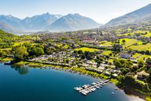 Lago Di Como (IT) - Baia Di Piona - Vista Aerea Verso Colico
