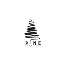 Pine Tree Logo Design Vector Template