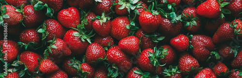 Strawberry food background. Ripe Organic Farm Berry - 269658685