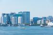 (東京都-都市風景)晴れた日の竹芝湾岸側風景3
