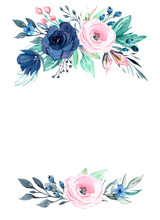 Watercolor Greeting Card With ...