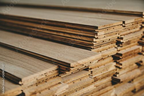 Obraz na plátně  Stock of wood floor board