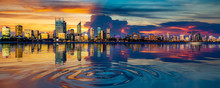 Perth Cityscape And Reflection...