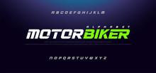 Sport Modern Italic Alphabet Font. Typography Urban Style Fonts For Technology, Sport, Motorcycle, Racing Logo Design. Vector Illustration