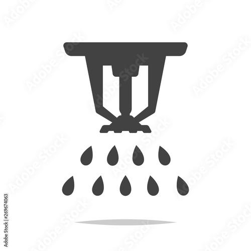 Obraz Fire sprinkler icon vector isolated - fototapety do salonu