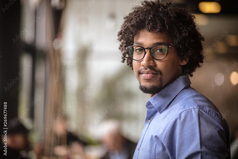 Fototapeta Confident in his business ability.