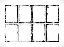Grunge Textured Frames Collect...
