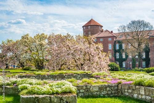 Wawel Royal Castle and courtyard in Krakow