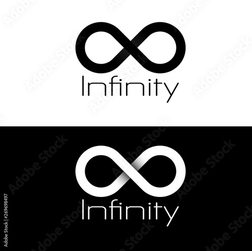 Fotografie, Tablou  Basic Black and white infinity logo.