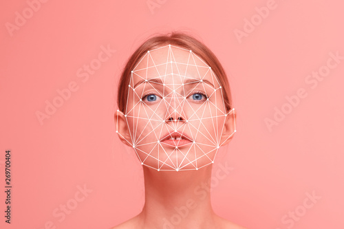 Facial recognition security system Wallpaper Mural