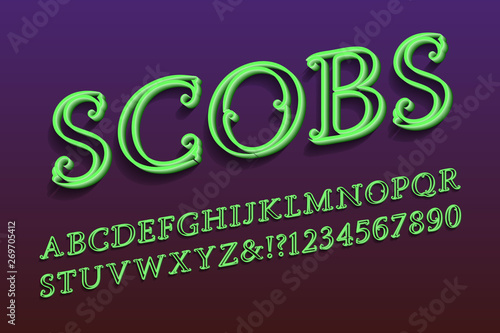 Valokuva  Scobs decorative letters and numbers