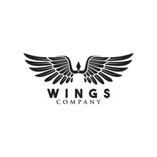Wings Logo Design With Initial...