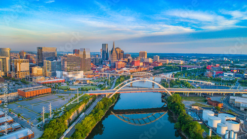 Photographie  Nashville, Tennessee, USA Skyline Aerial