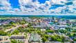 Leinwanddruck Bild - Downtown Knoxville, Tennessee, USA Skyline Aerial