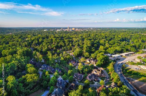 Fototapeta  Greenville, SC Skyline from Paris Mountain