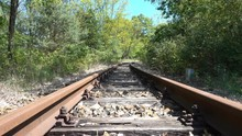 Rusty Abandoned Railroad Track...