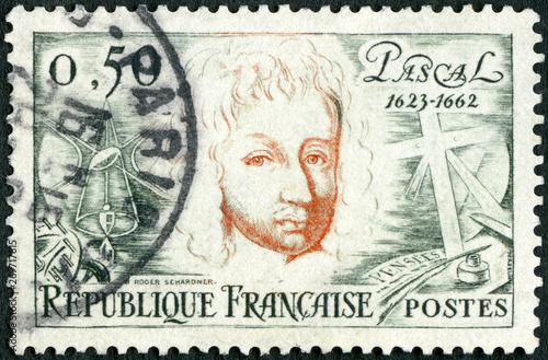Photo  FRANCE - 1962: shows Blaise Pascal (1623-1662), mathematician, physicist