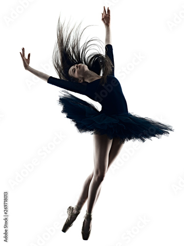 Photo one young beautiful long hair caucasian woman ballerina ballet dancer dancing st