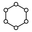 Isolated model of a molecular structure - Vector
