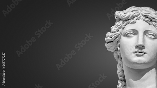 Portrait of a statue of young beautiful sensual Renaissance Era women in Vienna Canvas-taulu