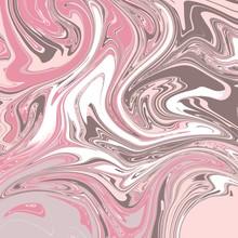 Digital Marbling - Neapolitan Ice Cream Pink White Brown