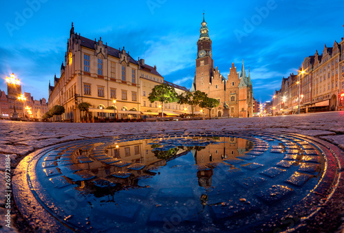Fototapety, obrazy: Morning in the Old Town Square. Wroclaw, Poland.