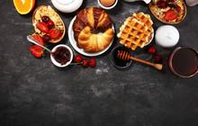 Huge Healthy Breakfast On Tabl...