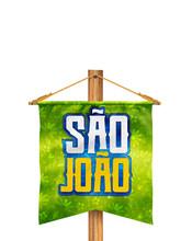 Festa Junina Com Bandeiras De ...