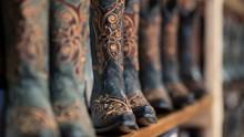 Ladies Boots On Shelf