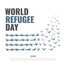 Vector Illustration On The Theme World Refugee Day