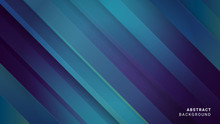 Abstract Blue Background With Diagonal Lines. Technological Design With Dark Blue Gradient Stripes. Modern Texture.