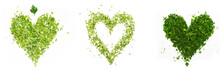 A Green Heart Of Chopped Parsley And Dill On White Background