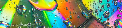 Valokuva  Fundo abstrato colorido com gotas de água