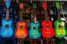 Colorful Guitars Hanging
