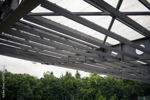 Photo  Metal building construction stadium