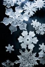 Close Up View Of Snowflake Pat...