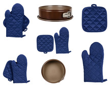 Protective Gloves And Mitt For Backery, Set And Collection