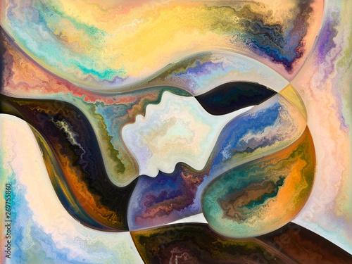 Stampa su Tela  Paths of Inner Colors