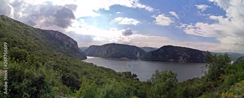 Printed kitchen splashbacks South Africa Danube canyon - Cazanele Dunarii - beautiful panorama view