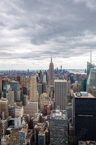Fototapeten New York USA. New York. May 2019: View from the top.American aerial landscape with usa. Manhattan - New York City Aerial view. Midtown manhattan. Panoramic view. City financial district. New York skyline - USA