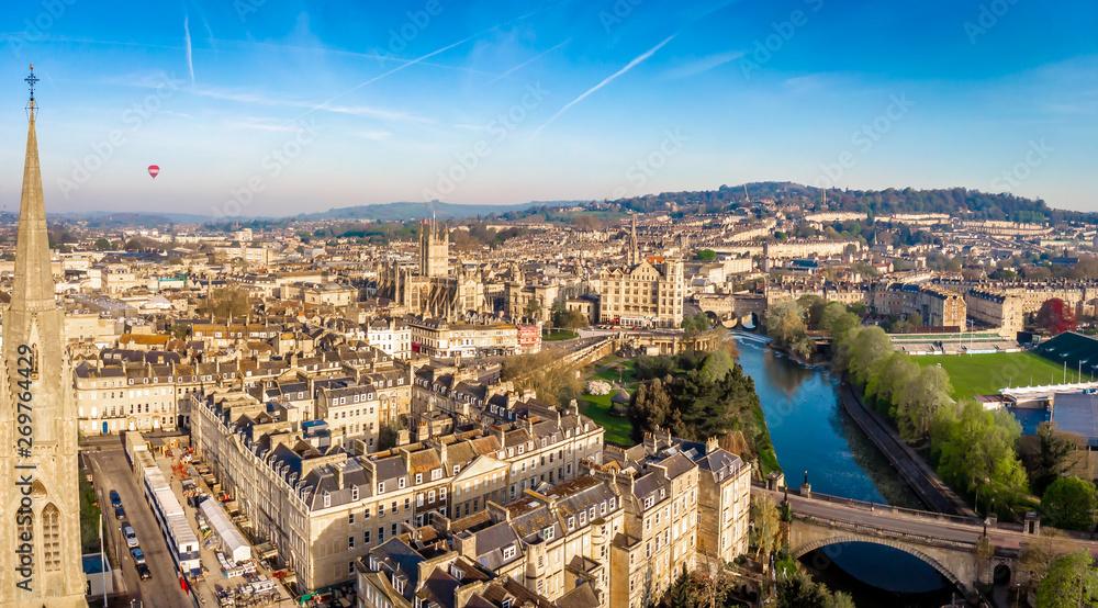Fototapety, obrazy: Aerial view of Bath, England