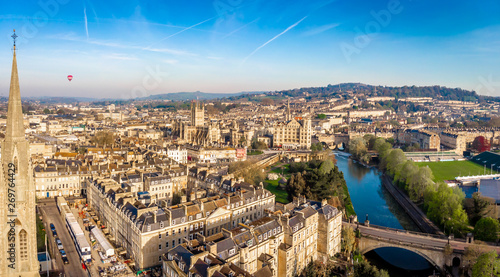 Canvas Prints Old building Aerial view of Bath, England
