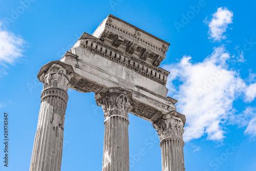 Slika na platnu Temple of Castor and Pollux, Italian: Tempio dei Dioscuri