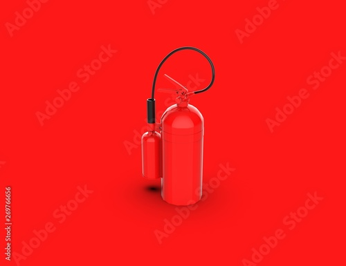 Fototapety, obrazy: Red Fire Extinguisher 3D Rendering