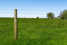 Wooden Post And Field