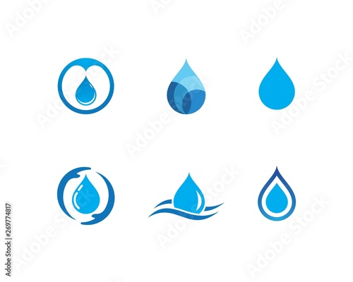 Fotografia, Obraz  water drop Logo Template