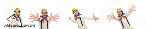Photo  Man in funny concept isolated on white