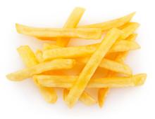 Fried Potato On White Background