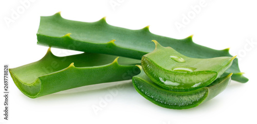 Photo Fresh aloe vera on white background